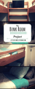 The idea of a tiny corner of space; a bunk room devoted purely to extra beds seemed genius to me.  There are no beds to be deflated, or rolled up. Easy