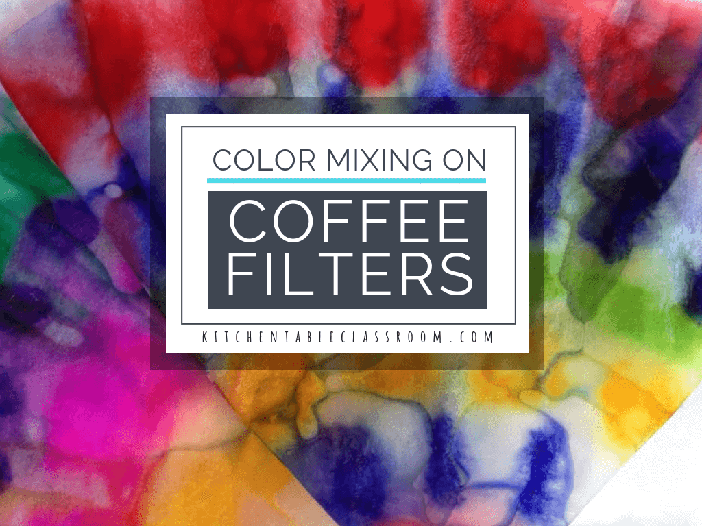 Primary colors are one of the first art concepts. Experience color mixing first hand with this coffee filter crafts that requires only washable markers!