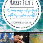 Marker Prints -Marker prints are one of those projects that would make an innocent bystander think that you, the teacher, really know what you're doing.  Don't worry- no technical skill or extensive knowledge required.  Marker prints are easy and the kids think they are magical.