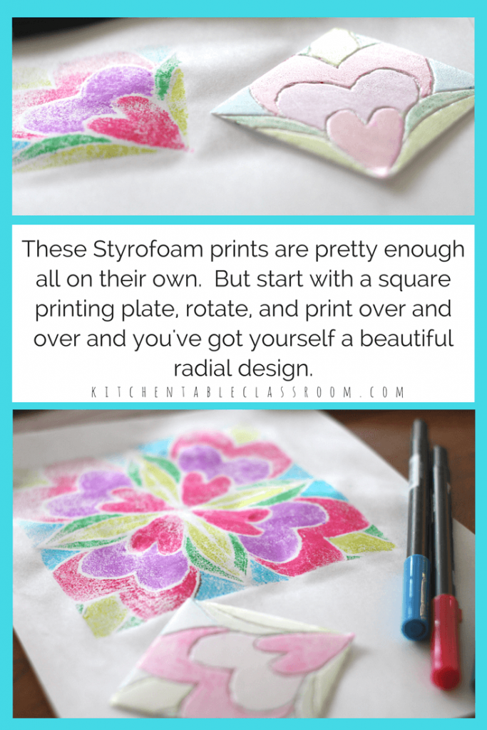 Marker prints are easy and the kids think they are magical.Chances are you have the supplies- all you need is a Styrofoam plate and some washable markers. Very little prep work is required, and the results are awesome! Use this one day printmaking method to explore a variety of subjects.