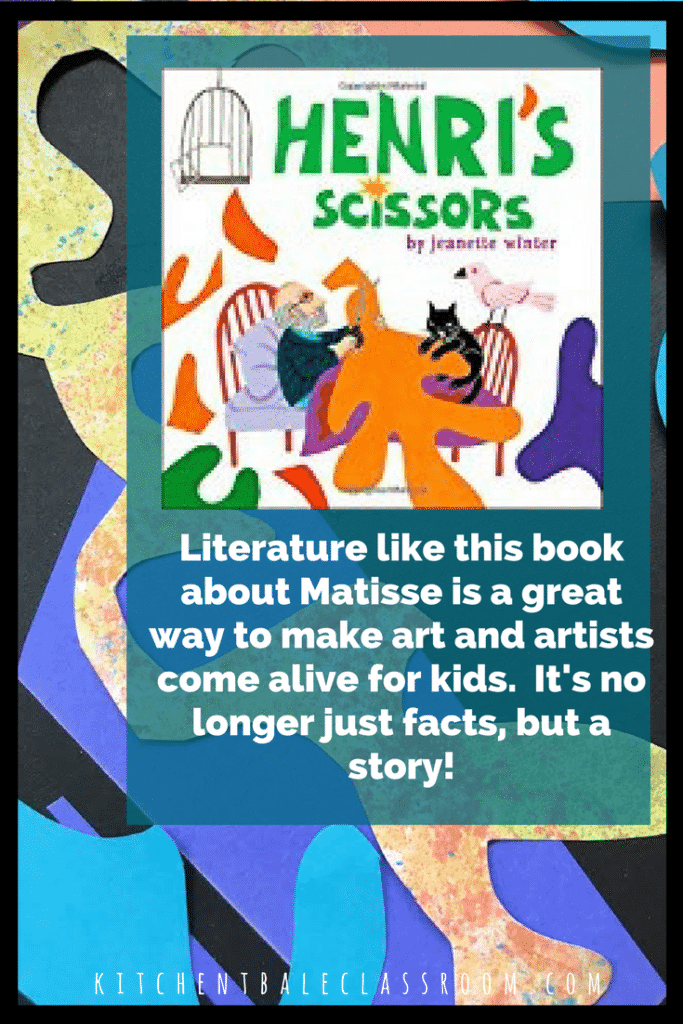 Bright colors and exciting shapes make Matisse collages easy to relate to & great inspiration for these fun collages! Use up some old art and make new art!