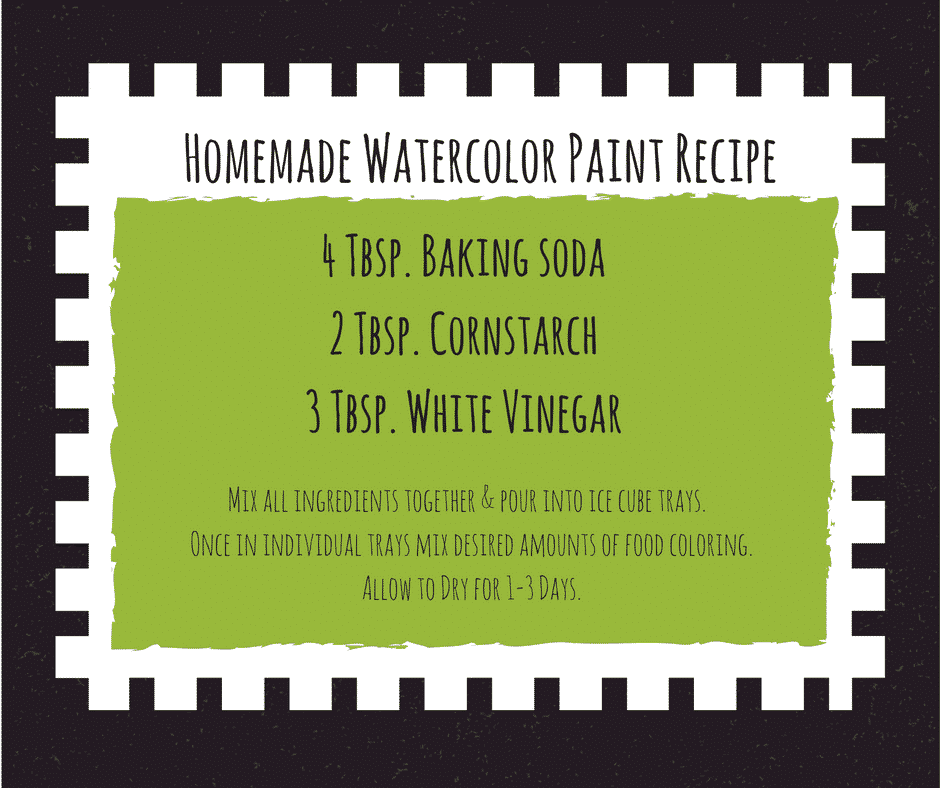 Homemade Watercolor Paint Recipe Who knew this was even a thing? Turns out it is and its awesome fun. You've got all the stuff in your kitchen so get out your measuring cups and get ready!