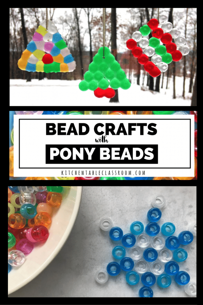 Pony beads are cheap, bright,and perfect for little fingers! We had lots of fun manipulating these little boogers! Bead crafts here we come!