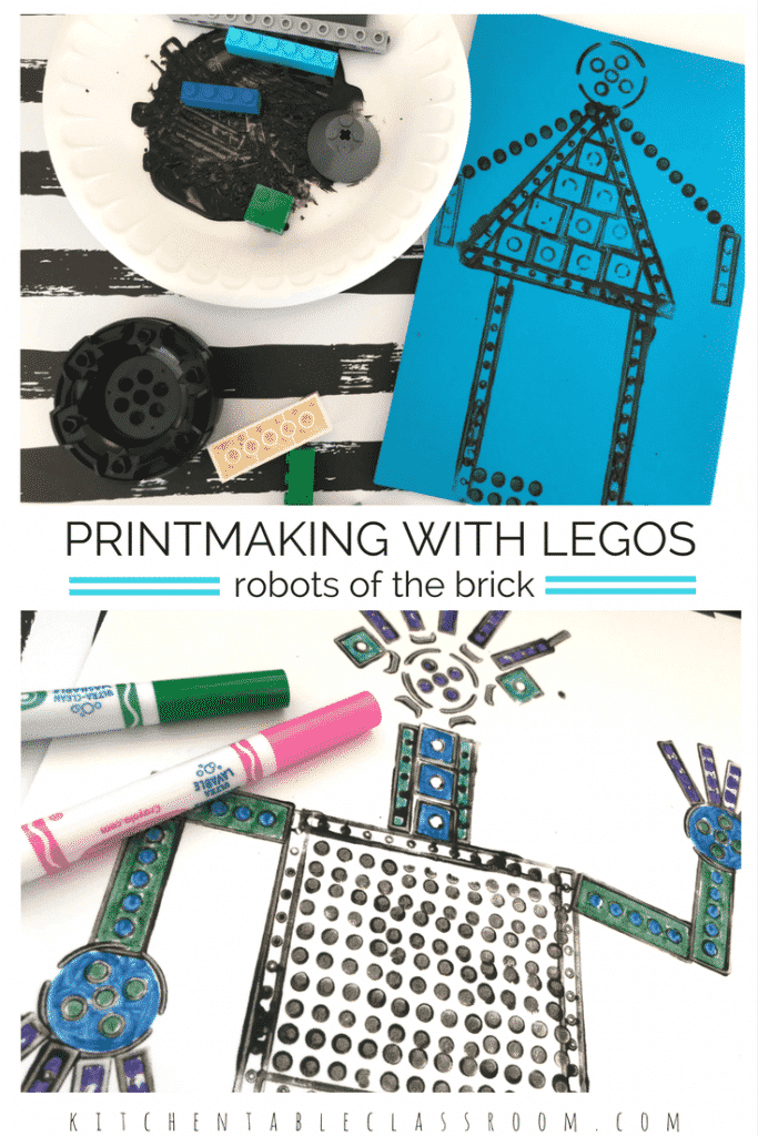 Lego prints are a natural since the famous bricks come in so many shapes and sizes! Just head over to the Lego bin, grab some black paint, and get busy!