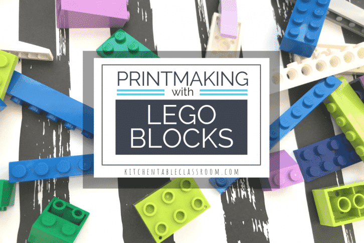 This simple Lego craft takes advantage of the huge variety of shapes & sizes Legos come in to make Lego prints in the shape of robots.