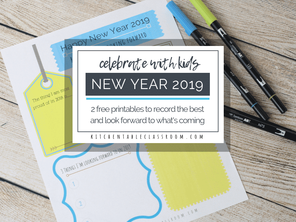 these free new years printables in color and black and white help your kiddos