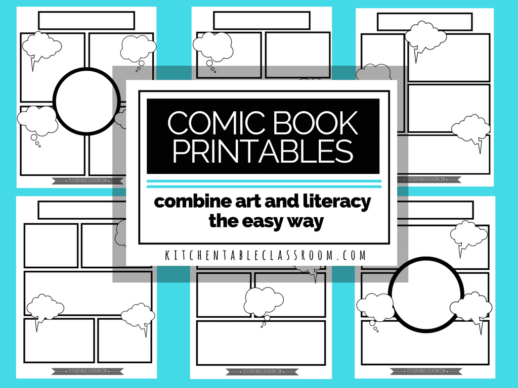 comic book templates free printable pages the kitchen table