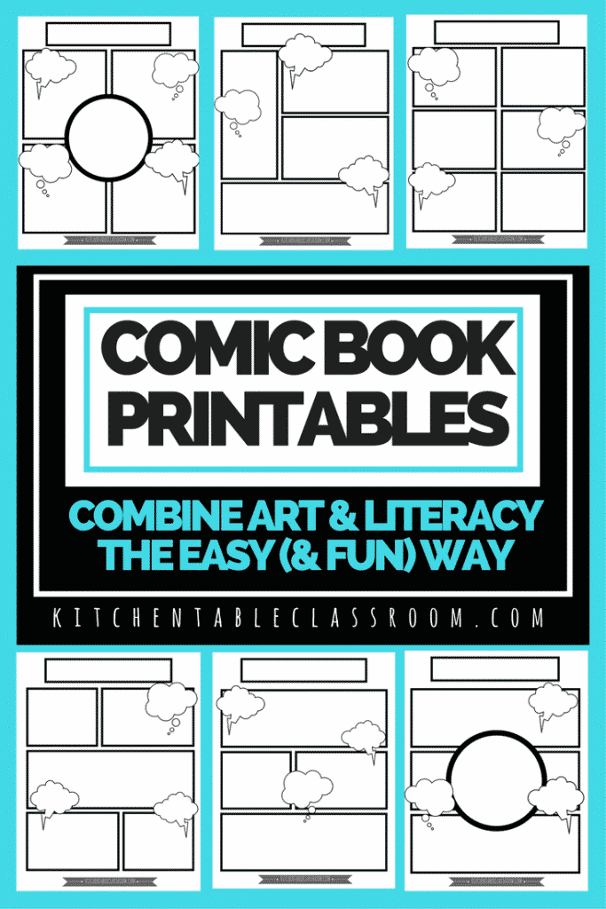 Basically any excuse for my kids to take pen to paper and I'm there.These free comic book templates printables are a fun way to keep your kids writing!