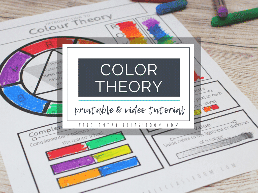 Printable Color Wheel An Intro To Color Theory For Kids The Kitchen Table Classroom