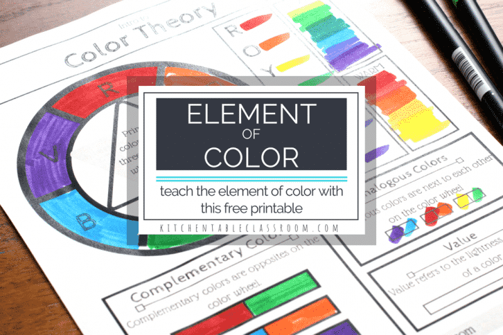 Color Wheel Worksheet Archives The Kitchen Table Classroom