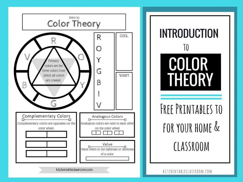 Free Color Wheel Theory Printable