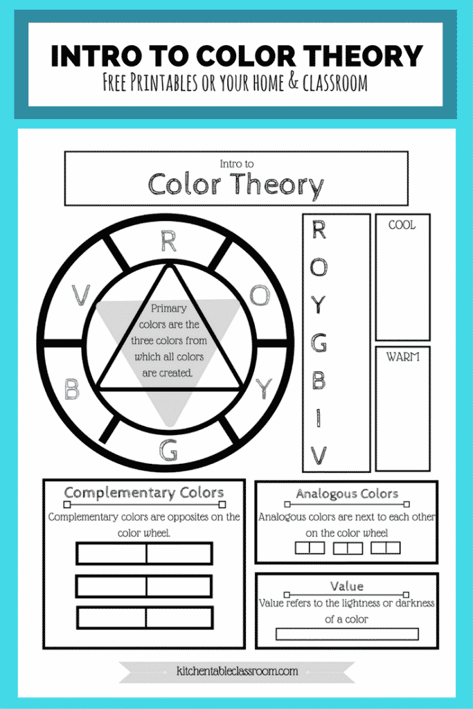 Free Color Wheel Color Theory Printable The Kitchen Table