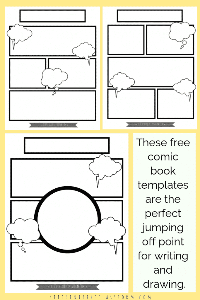 free comic book templates to print