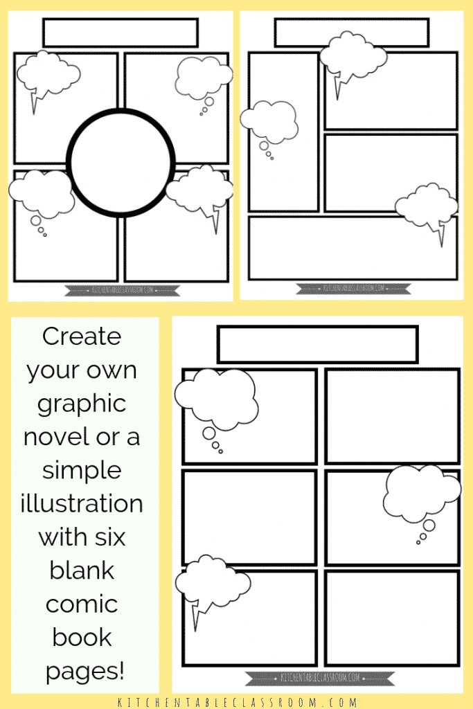 This is a picture of Comic Strip Template Printable inside writing