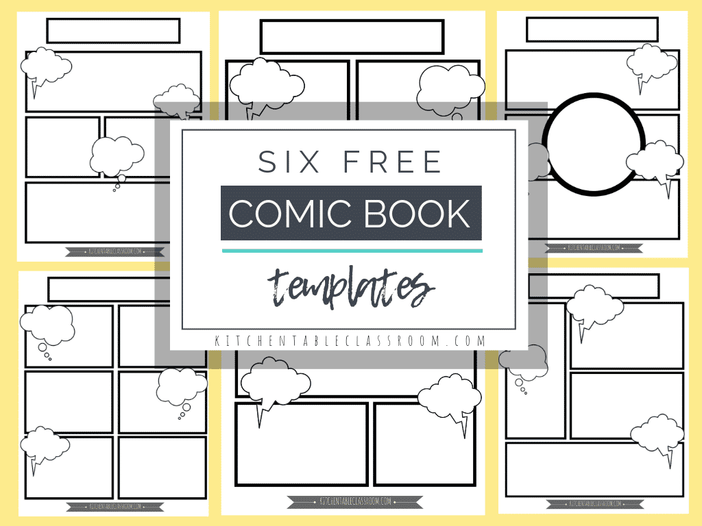 photo regarding Printable Book Pages identify Comedian E book Templates - Totally free Printable Internet pages - The Kitchen area