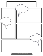 comic template 4 png