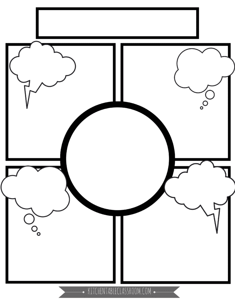 Comic Book Templates Free Printable Pages The Kitchen
