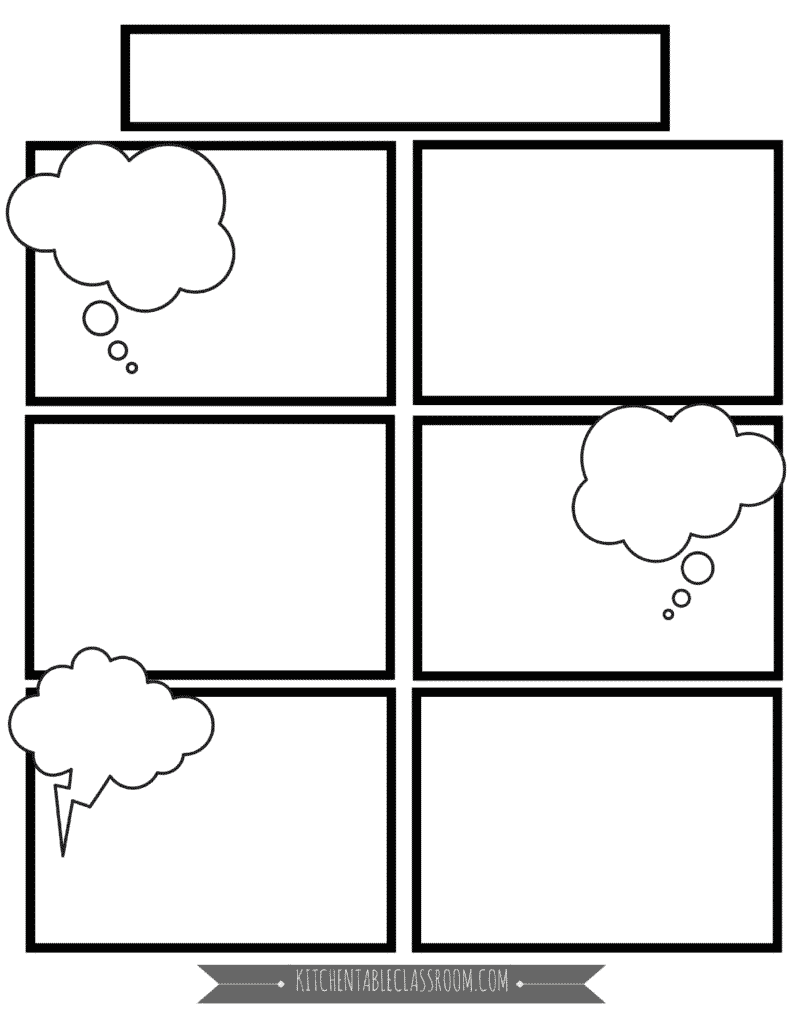 Dynamite image within free printable comic strip template