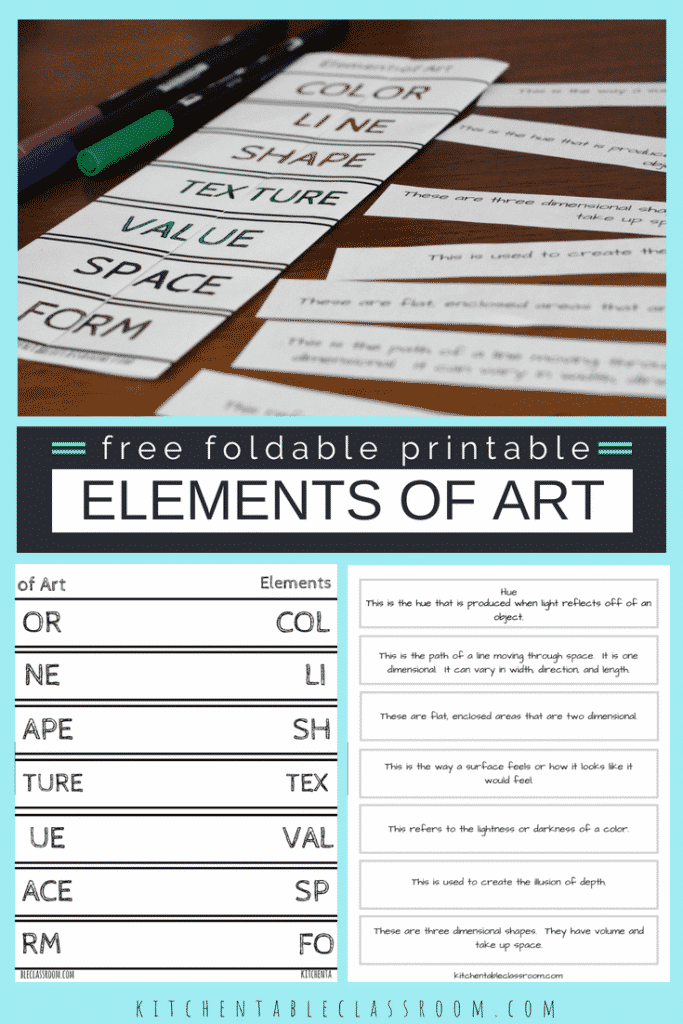 image relating to Printable Definitions referred to as Products of Artwork Definitions Totally free Printable Materials - The