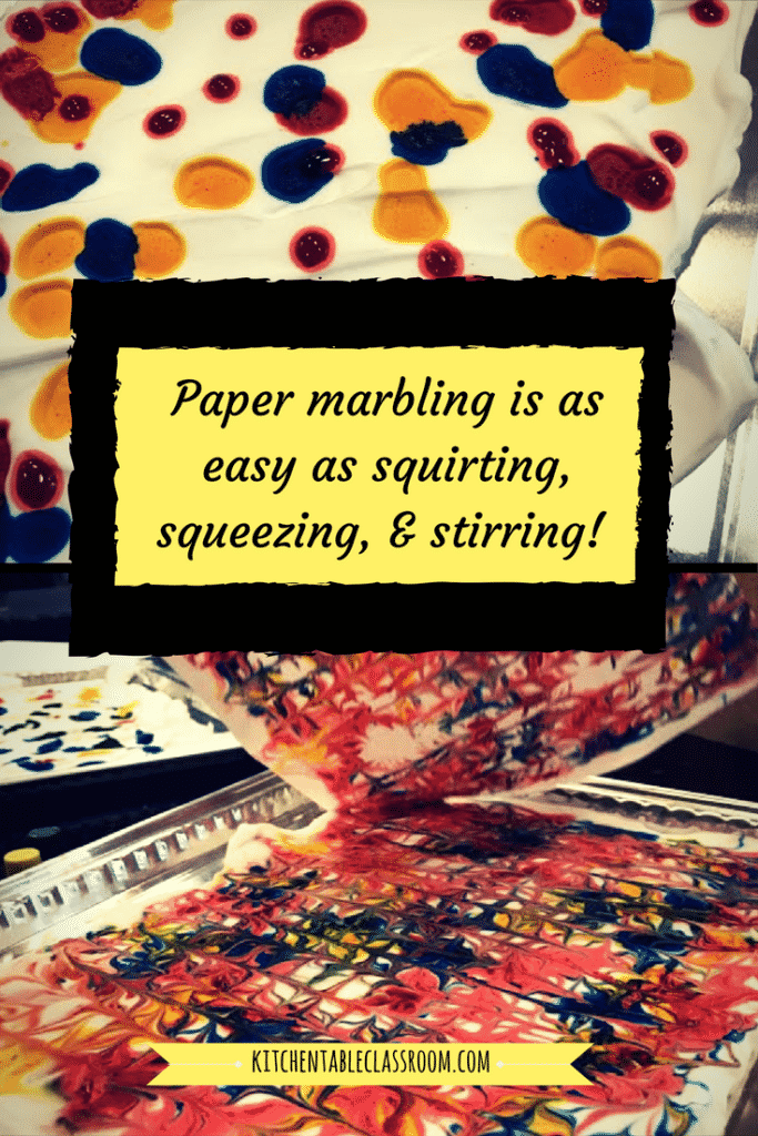 Explore the art of paper marbling without even opening your craft cupboard. You may have to dig in your pantry and medicine cabinet, but you've got it all!