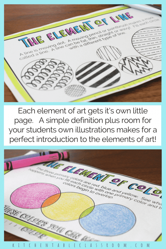 Elements Of Art For Kids : The formal elements of art for kids with free printable