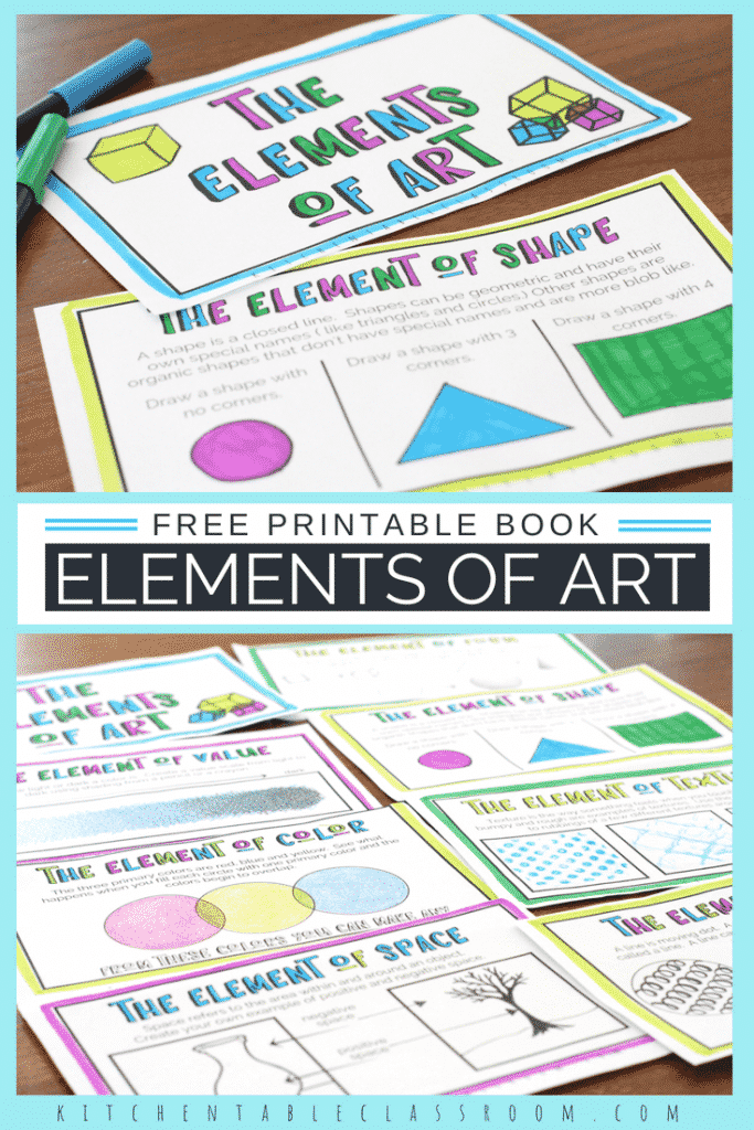 The formal elements of art for kids are building blocks to making and talking about great art! Use this free printable book to get started today!