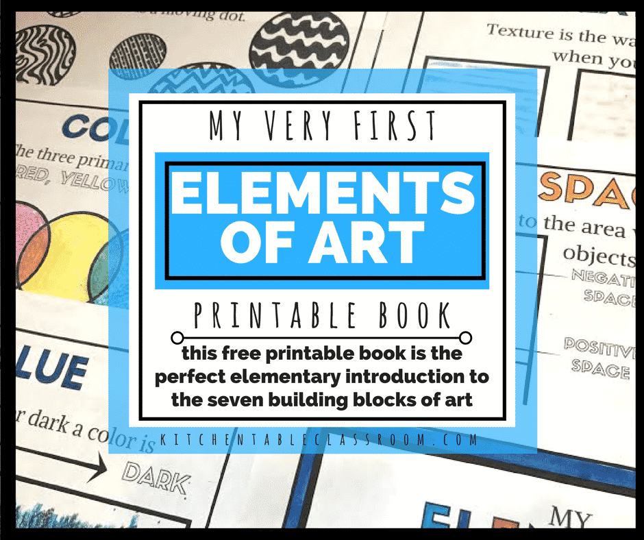 Elements Of Art For Kids : Elements of art for kids with free printable book the