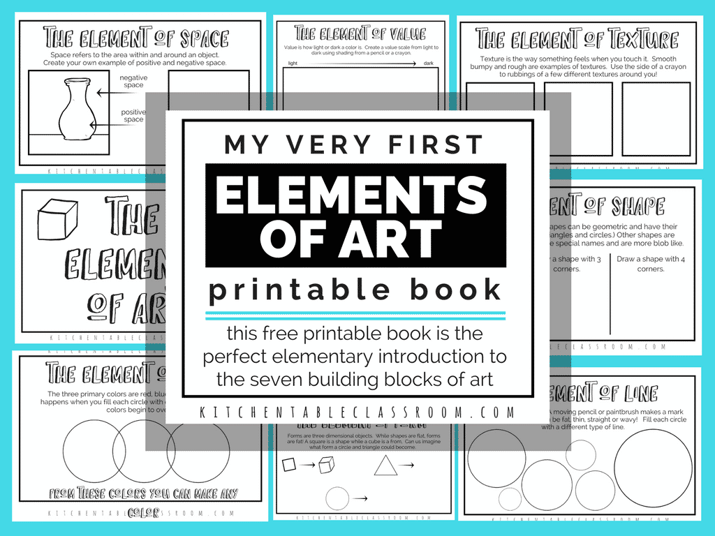 The Formal Elements Of Art For Kids With Free Printable Book