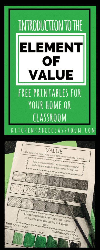 Elements Of Art Value Definition : The element of value in art an intro and free printable