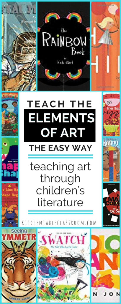 Art books for kids are an easy way to introduce the seven elements of art to kids. Books make connections between art concepts & your child's life!