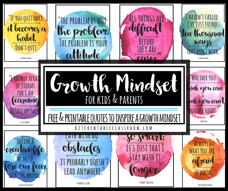Kitchen Table Classroom Growth Mindset