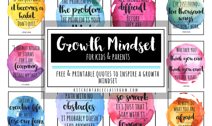 Growth Mindset Quotes For Kids Parents