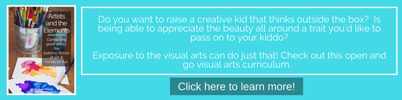 Are you looking for a full open and go visual arts curriculum full of engaging lessons and printables? Let me do the planning while you engage in a rich visual arts experience with your kids!