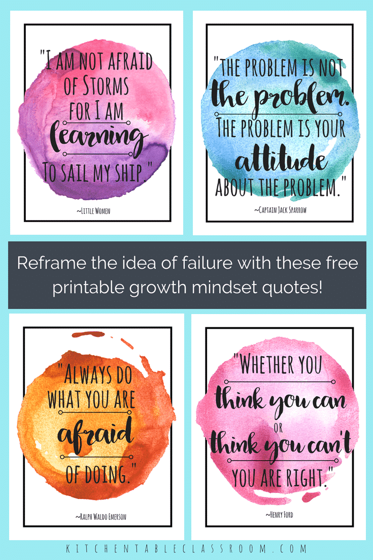 Growth Mindset Quotes | Growth Mindset Quotes Collage 3 The Kitchen Table Classroom