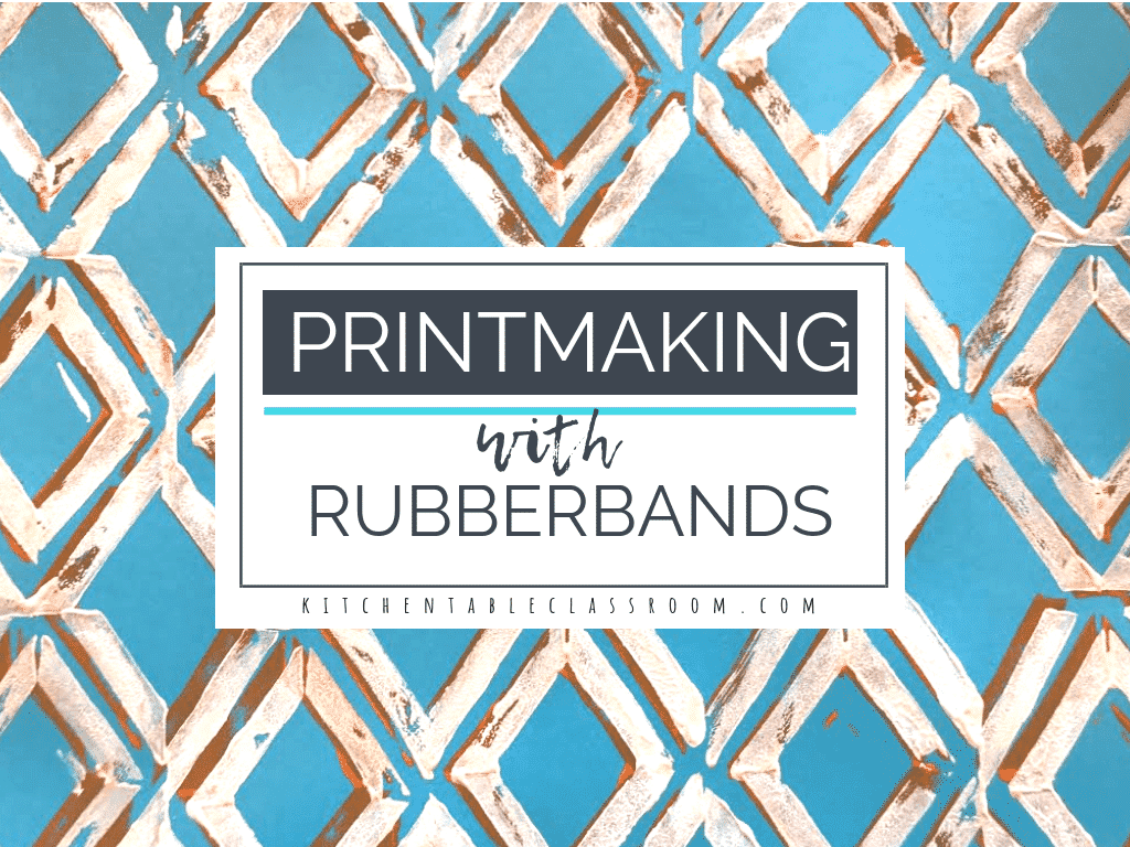 You can use practically any found object to make a print. Empty out your pencil drawer and get started on these bold, graphic rubber band prints.