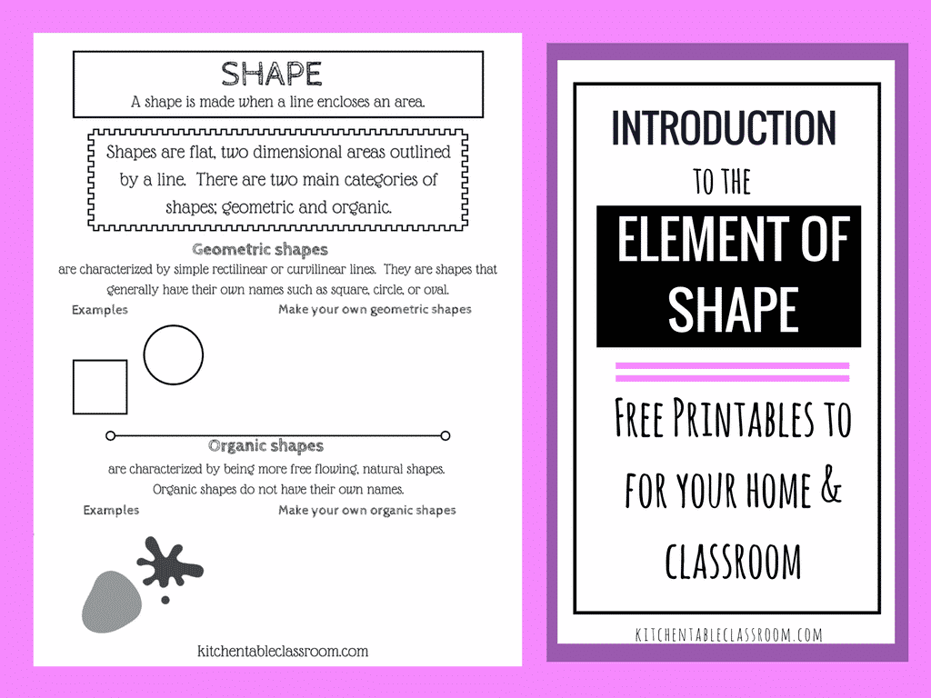 Introduction to the Element of Shape - The Kitchen Table Classroom