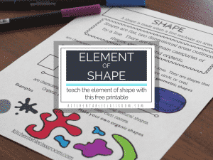 Kids drawshapes all the time. Fully explore the types of shapes in art, organic shapes and geometric shapes, with this free printable!