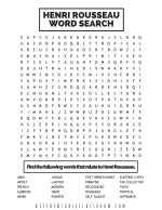 Rousseau word search PNG