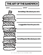 SANDWICH printable PNG