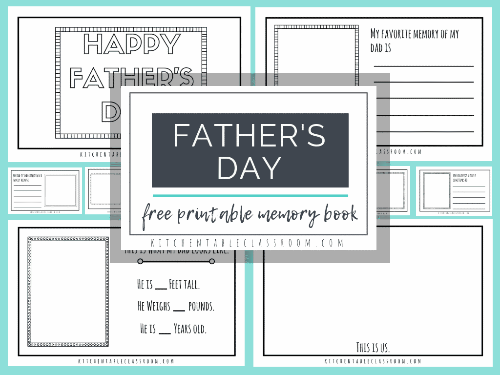 picture about Father's Day Printable referred to as Fathers Working day No cost Printables-Publications for Dads and Other