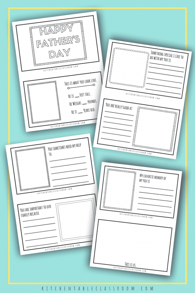 Thesefathers day free printables are a simpleway for your child to make a special keepsake gift. A version for dad's plus one for other special people!
