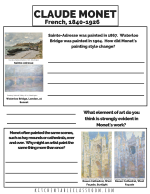 monet printable PNG