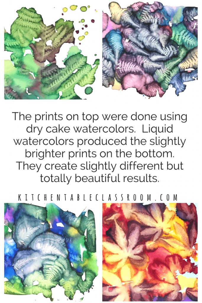 This spontaneous leaf printing process only takes watercolor paints but produces some of the most detailed, vibrant leaf prints you've ever seen!