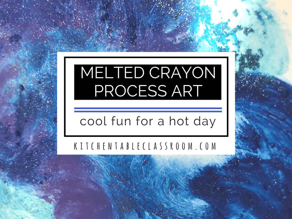 Melted Crayon Process Art Cool Fun For A Hot Day The