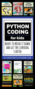 Are you pretty much a computer genius? Me neither.  This list brings the free Python coding language right to your kids (or you) in easy to follow books.