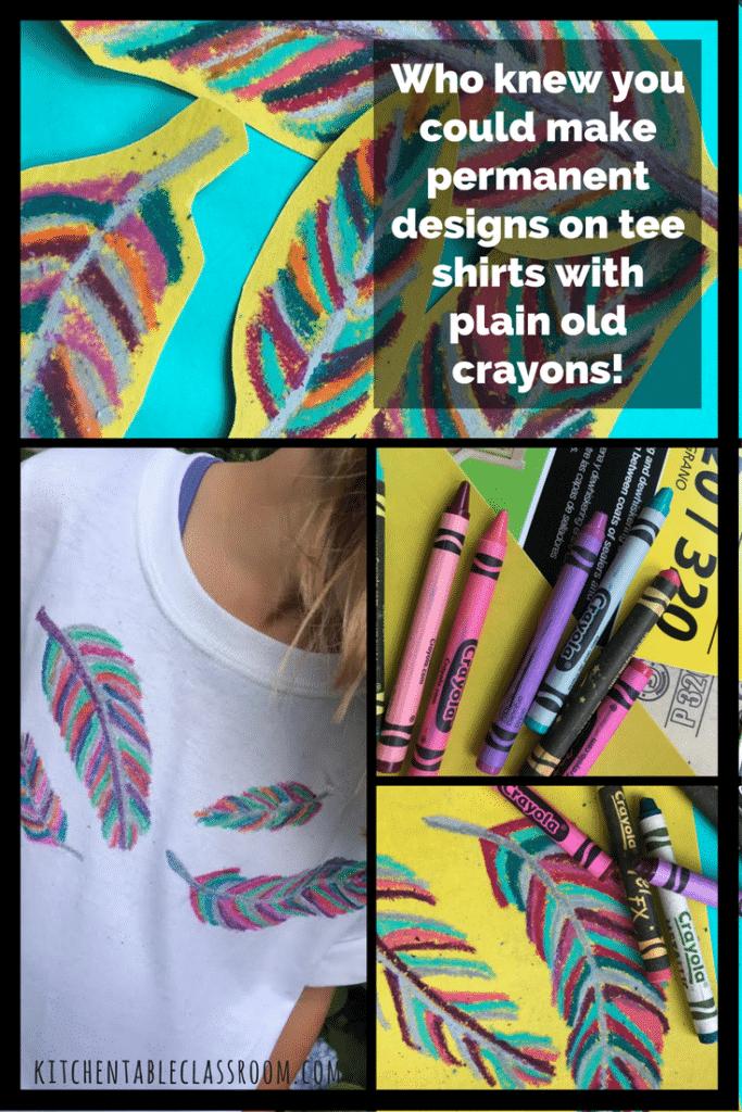 Textildruck mit Wachsmalstiften / Crayons und Sandpapier