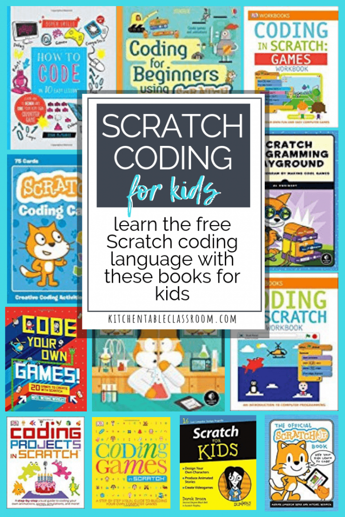 Use these Scratch coding books to teach kids basic coding skills. Scratch is a free online coding program perfect for introducing kids to coding technology.