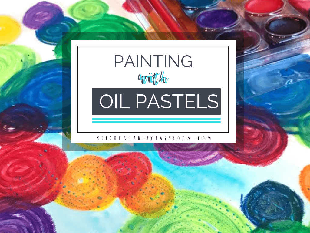 Add baby oil to your oil pastel drawing and it becomes an oil pastel painting. This simple experience is the perfect way to learn how to blend oil pastels.
