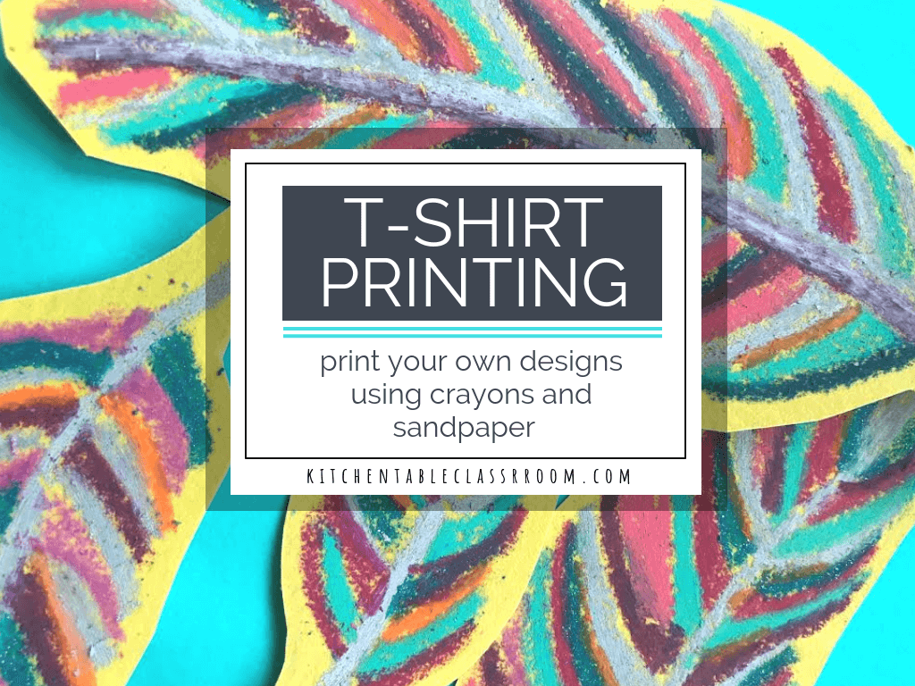This DIY t shirt printing process is so fun and produces brilliant results. All you need is crayons and sandpaper and get ready to design your own shirt!