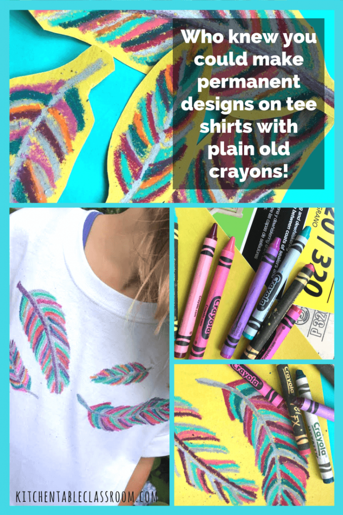 My kids love wearable art. This fabric printing method is especially do-able because it doesn't require any special fabric medium, just plain old crayons.  Use plain crayons and sandpaper to make bright, colorful designs on any cotton t-shirt.   A great girl scout, class project, or birthday party activity!
